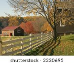 An Autumn view of the historic Longstreet Farm in Holmdel, New Jersey. - stock photo