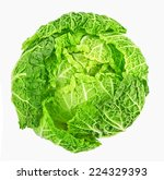 cabbage isolated on white background  - stock photo