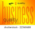 business quality illustration on a flaming background (part of set on similar business themes) - stock photo