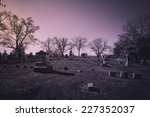 Old cemetery - vintage look  - stock photo
