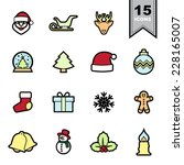 Christmas line icons set .Illustration eps 10  - stock vector