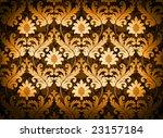 Magnificent decorative orange renaissance background - stock photo