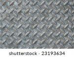 Diamond plate steel. - stock photo