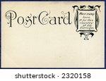 Antique Postcard Circa 1905 - stock photo