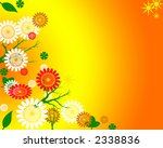 springtime floral background illustration bright - stock photo