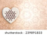 Background shabby texture with heart - stock photo