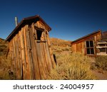 Old West Ghost Town Outhouse - stock photo