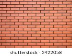 Modern red brick wall. - stock photo