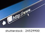 Internet browser on a HTTP URL address - stock photo