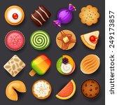 dessert icon set-3 - stock vector