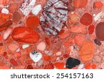 Red conglomerate - stock photo