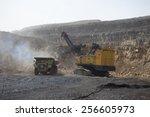 coal mining working field,china Pingsuo - stock photo