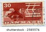 Vintage World Postage Stamp Ephemera denmark(editorial) - stock photo