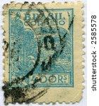 Vintage World Postage Stamp Ephemera brazil (editorial) - stock photo
