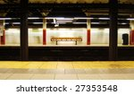Brooklyn Bridge Subway Station in Manhattan, New York - stock photo