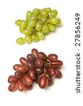 Bunch of grapes isolated on a white studio background. - stock photo
