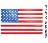 Glossy vector illustration of the flag of the United States of America - stock vector