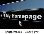 My Homepage concept on an internet browser URL address - stock photo