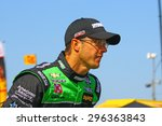 Milwaukee Wisconsin, USA - July 12, 2015: Verizon Indycar Series Indyfest ABC 250 at the Milwaukee Mile. Driver introductions before the race Sebastien Bourdais, race winner. - stock photo