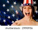 American Girrl! - stock photo