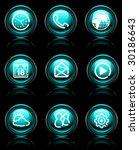 green mobile button reflex icons - stock vector