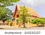 View of Church of Prathong temple or Pra-pood temple at Phuket. It is one of the most famous places for traveling in Thailand. - stock photo