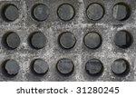 perforated concrete - stock photo