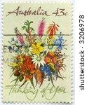 Vintage World Postage Stamp Ephemera (editorial) - stock photo