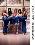 Women worker team. Selective focus effect. - stock photo