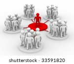conceptual image of the leader. Isolated 3D image - stock photo
