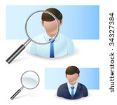 search people icon - stock vector