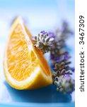 orange and lavender - stock photo