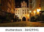 Gdansk at night - stock photo