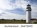 This is HighLand Light House Truro Massachusetts - stock photo