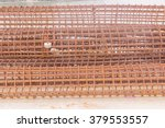 Reinforcement bar , with temporary rust for construction of column of bridge's pier - stock photo