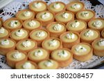 Beautiful presentation of gourmet and tasty desserts: Mini Key Lime Pie - stock photo