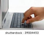Laptop work - stock photo