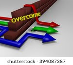 Overcoming Obstacles 3D Render - stock photo