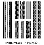 Vector version. Set of tire patterns for design isolated on white - stock vector