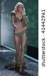 NEW YORK - NOVEMBER 19: Victoria's Secret Fashion Show model Caroline Winberg on November 19, 2009 at the Lexington Armory in New York City. - stock photo