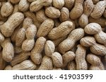 Raw peanuts in shell - stock photo