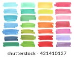 Color  highlight  stripes, banners drawn with japan markers. Stylish  highlight  elements for design. Vector  highlight  marker stroke, spots bright color - stock vector