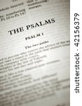psalms biblical scriptures starting with the first chapter - stock photo