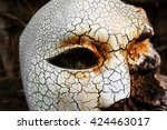 Phantom of the Opera Mask on Old Stone - stock photo