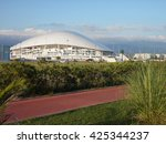World Cup 2018 in Russia, Football Stadium in Sochi, July 15, 2015 - stock photo