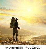 backpacker - stock photo
