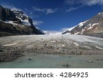 Athabasca Glacier, Columbia Icefields, Canada - stock photo
