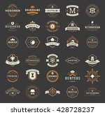 Vintage Logos Design Templates Set. Vector logotypes elements collection, Icons Symbols, Retro Labels, Badges and Silhouettes. Big Collection 30 Items. - stock vector