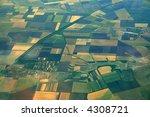 Aerial photo of Farmland - stock photo