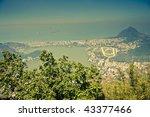 Views over Ipanema from Corcovado, Rio De Janeiro Brazil - stock photo
